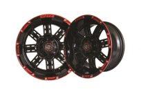 12×7 Black Red Transformer Wheel