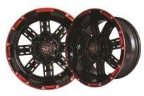 14×7 Black Red Transformer Wheel